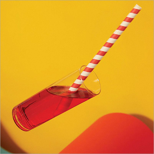 Red And White Paper Straw