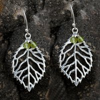 Handmade Jewelry Manufacturer Peridot Gemstone 925 Sterling Silver Earring Jaipur Rajasthan India