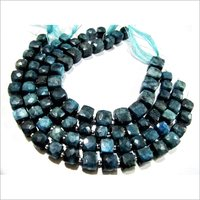 Natural Neon Apatite cube box Faceted Beads.