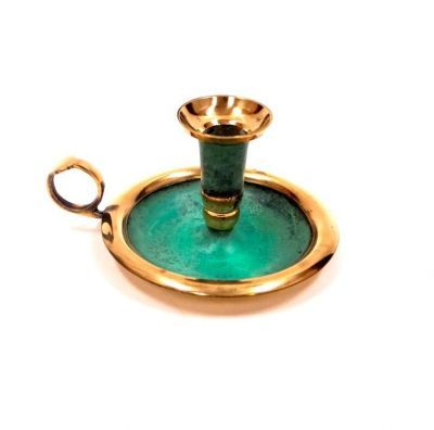 Solid Brass Candle Holder With Plate