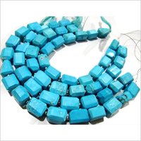 Natural Turquoise Magnasite free shape nugget Tumbled lazer cut beads.
