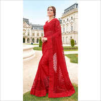 Ladies Georgette Net Saree