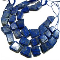 Natural Lapis Lazuli Nugget Shape Tumbled free shape flat Beads