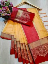 BROAD BORDER SAREE