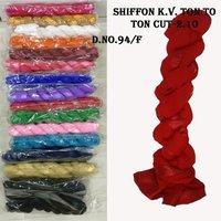 Design Karina Shiffon 4 Side Ton 2 Ton Satin Lace Cut 2.25 Mts