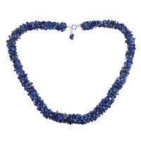 Handmade Jewelry Manufacturer Lapis Lazuli Gemstone 925 Sterling Silver Chips Necklace Jaipur Rajasthan India