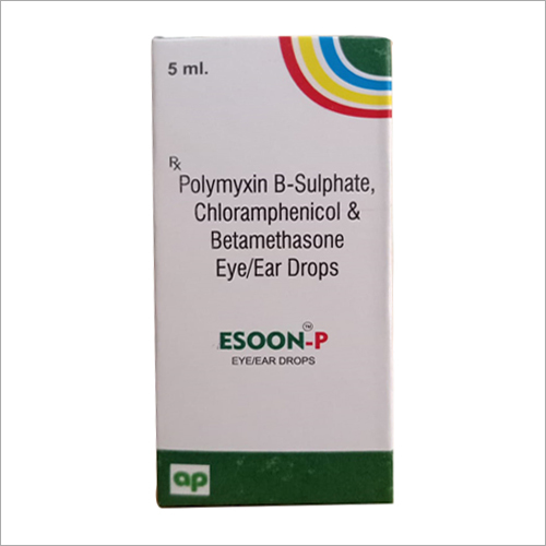 5ml Polymyxin B-Sulpahte-Chloramphenicol And Betamethasone Eye And Ear Drop