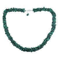 Malachite Gemstone Handmade Jewelry Manufacturer 925 Sterling Silver Chips Necklace Jaipur Rajasthan India