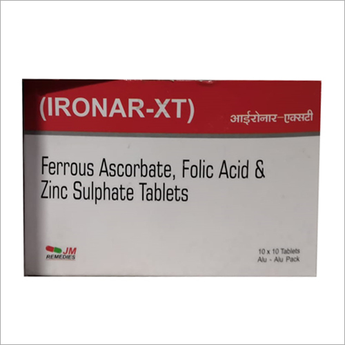 Folic Ferrous AscorbateAcid And Zinc Sulphate Tablet