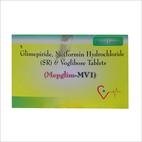 Glimepiride Metformin Hydrochloride (SR) And Voglibose Tablet