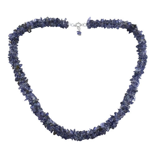 Jaipur Rajasthan India Iolite Gemstone 925 Sterling Silver Chips Necklace Handmade Jewelry Manufacturer