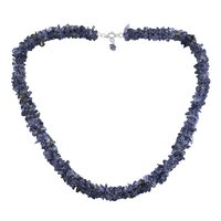 Jaipur Rajasthan India Iolite Gemstone 925 Sterling Silver Chips Necklace Handmade Jewelry Manufacturer