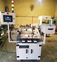 Automatic Part Detection Machine With Barcode Printing