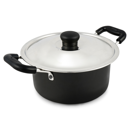 3 Litre Hard Anodised Cook N Serve Pot