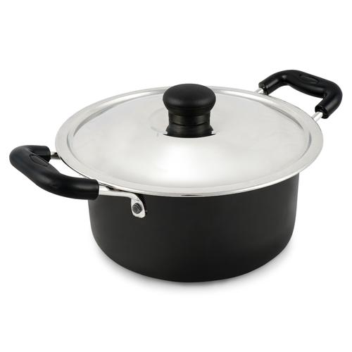 3 Litre Hard Anodised Cook N Serve Pot