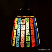 Rainbow Effect Color Glass Wall Hanging
