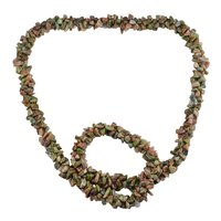 Jaipur Rajasthan India Unakite Gemstone Chips Necklace Handmade Jewelry Manufacturer