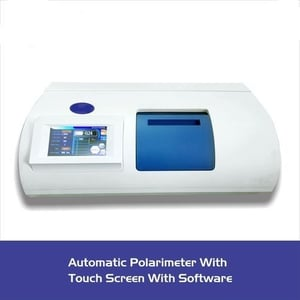 Automatic polarimeter with touch screen with softwere