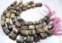 Natural Pink Opal Tumbled Plain Smooth Nugget Shape Beads.