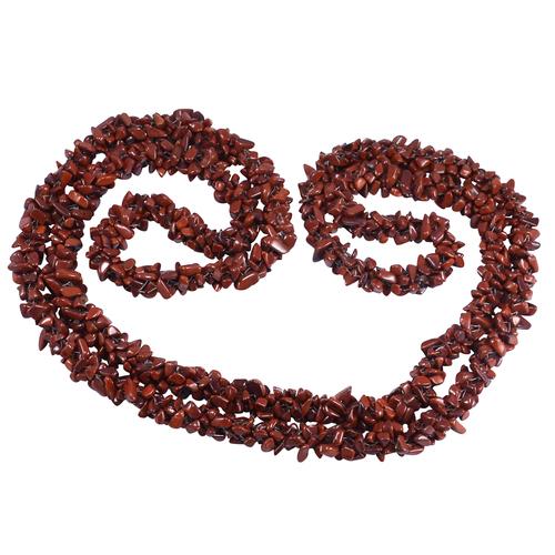Red Jasper Gemstone Chips Jaipur Rajasthan India Necklace Handmade Jewelry Manufacturer