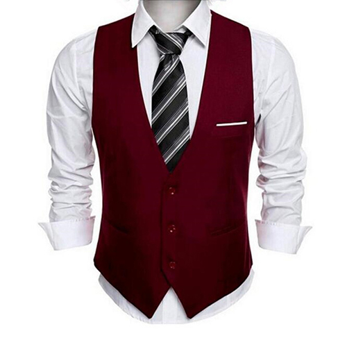 Classic Mens Suit Vest Formal Wedding Dress