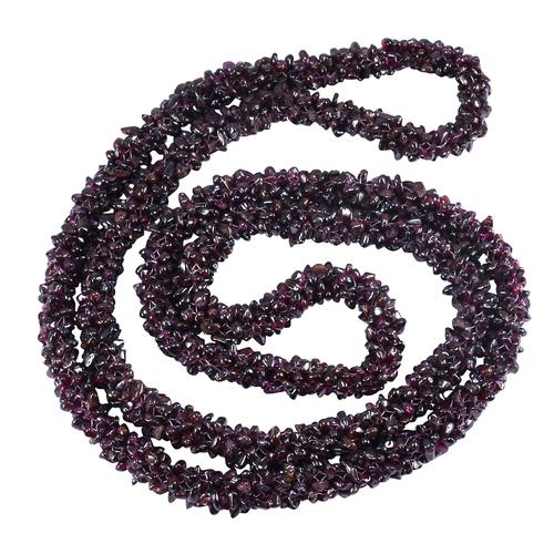 Jaipur Rajasthan India Garnet Gemstone Chips Necklace Handmade Jewelry Manufacturer