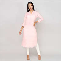 Ladies Solid Pastel Kurta
