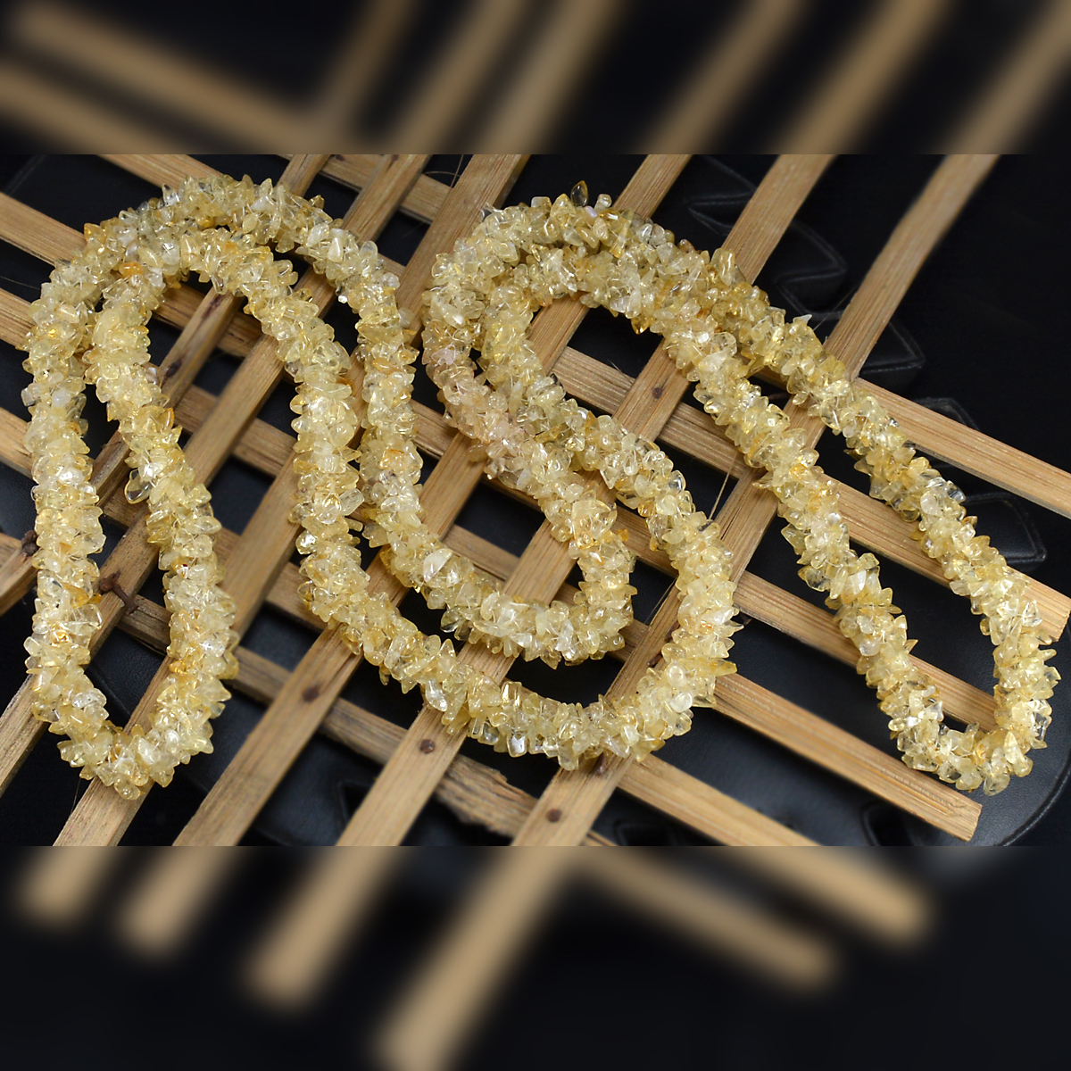 Handmade Jewelry Manufacturer Citrine Gemstone Chips Necklace Jaipur Rajasthan India