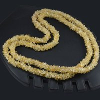 Handmade Jewelry Manufacturer Citrine Gemstone Chips Necklace Jaipur Rajasthan India