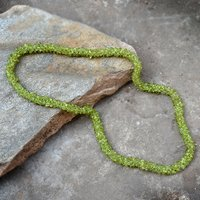 Jaipur Rajasthan India Peridot Gemstone Chips Necklace Handmade Jewelry Manufacturer