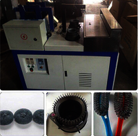 automatic kitchen mesh scourer making machine
