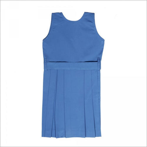 Light Blue Box Pleated Pinafore
