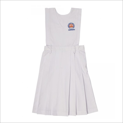 Box Pleats White Pinafore