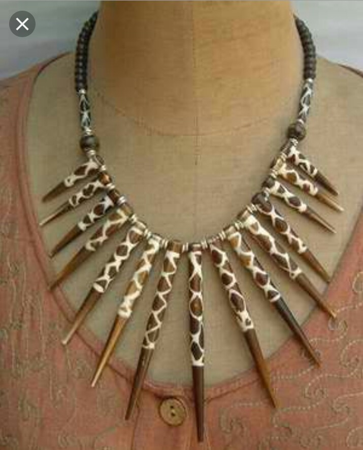 Bone Bead Necklace