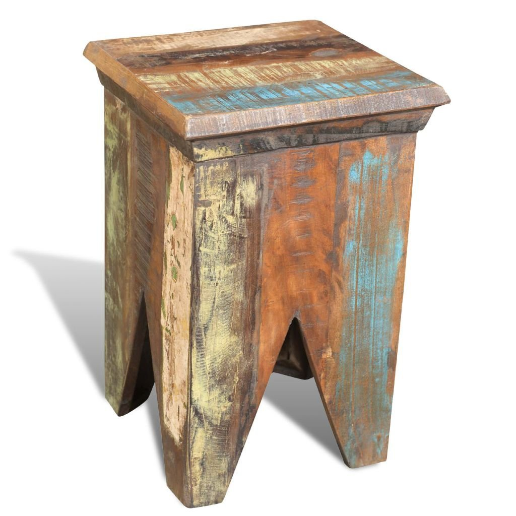 Stools in antique style, Reclaimed wood.