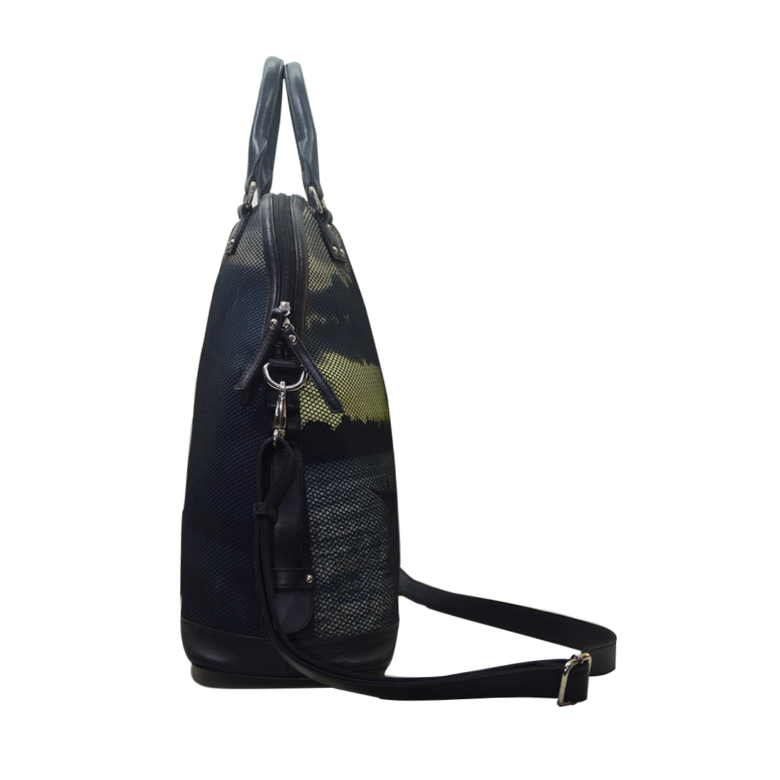 Canvas Bag with Leather Trims