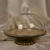 Clear Glass Cake Stand With Cake Cover