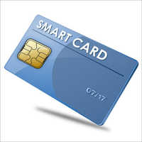Blue Double Sided PVC Smart Card