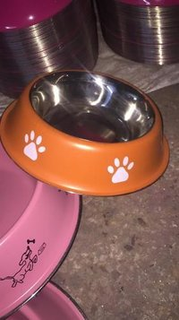 Dog feeding color bowl
