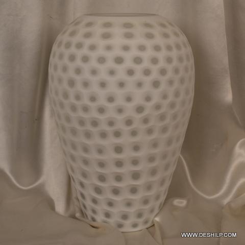 White Color Glass Flower Vase
