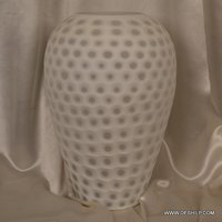 White Color Glass Flower Vase