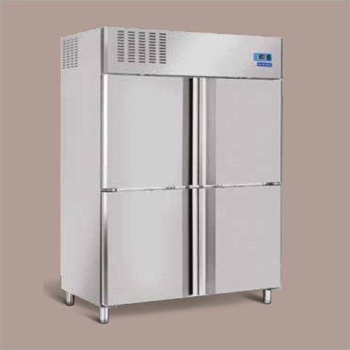 White 4 Door Reach In Chiller & Freezer