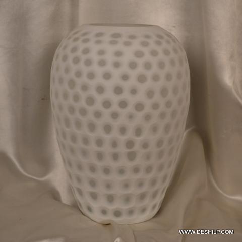 White Color Decor Flower Vase