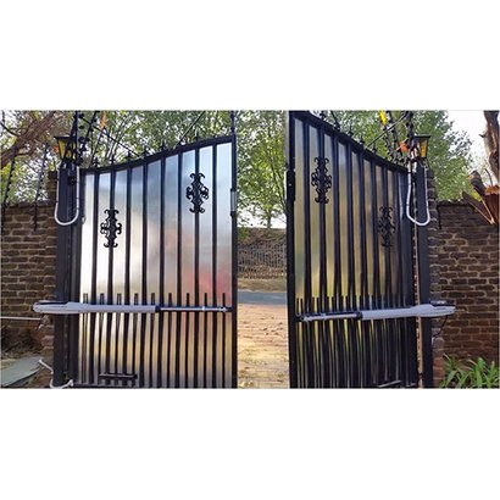 Black Aluminum Security Gate