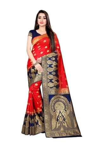 Ladies Zari Work Silk Sarees