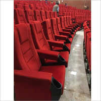 Red Sliding Theatre Chair