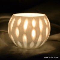 Round Glass Decor Candle Votive