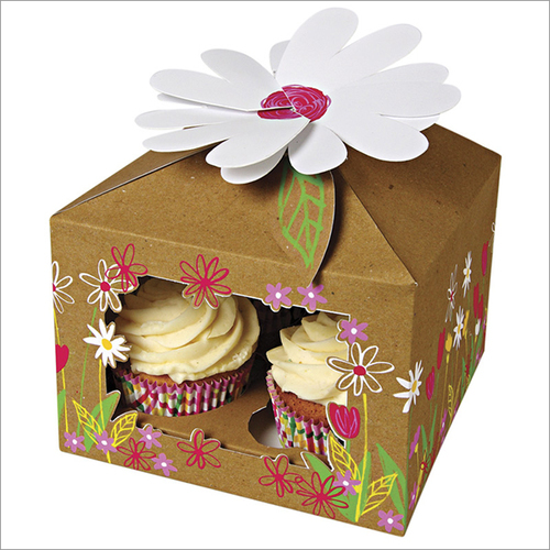 Wholesale And Retail Four Cupcake Box