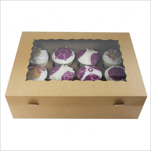 The Cake Decorating Co Plain Kraft Holds 12 Cupcake Box