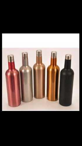 Colourful copper bottle